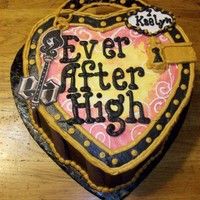 Ever After High All buttercream icing, image laminated key and cardboard lock slide at top. Thanks for looking