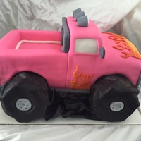 Monster Truck Birthday cake for a little girl.
