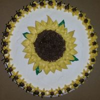 Wishing It Was Spring Just a little quick sunflower cake