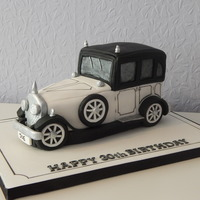 Vintage Car Cake My first ever car cake.I made this for my brother's 30th birthday it was from my Debbie Brown cakes for men book.