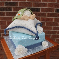 Baby Shower Cake  This cake is the true meaning of custom cake lol. The lady showed me 3 different cakes, said I want the top tier to be from this cake, the...