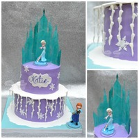 Elsa's Castle  I made this cake for my daughter's 6th birthday. I made the castle out of isomalt by using the tutorial by Liz Marek of Artisan...