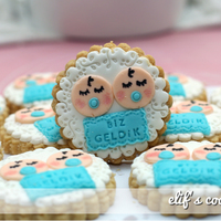 Twins Baby Cookies Cookies for twin babies