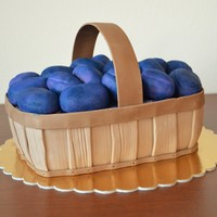 Plums In A Basket Chocolate cake with ganache and forrest fruit