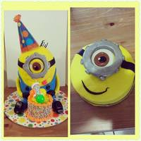 Minion Cake 1st birthday minion cake with smash cake!