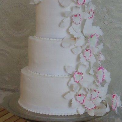 Orchid Cascade Cake