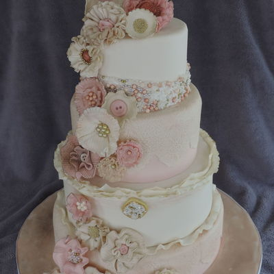 Antique Wedding Cake Gumpaste Flowers Teaching A Class On This One