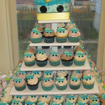 Baby Carrage Cupcakes