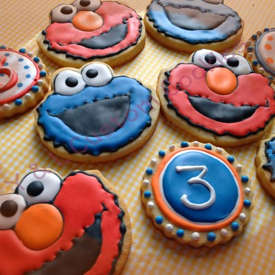Sesame Street Elmo Amp Cookie Monster Cookie Favors