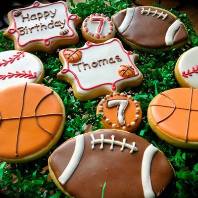 Birthday Cookies For Young Sports Fan