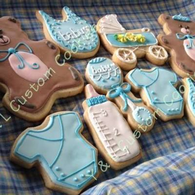 Baby Shower Cookies For Baby Boy