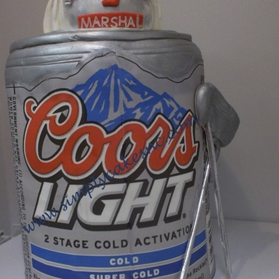Coors Light And Fireman Helmet