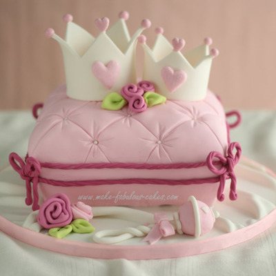 Mommy And Baby Princess Crown Cake