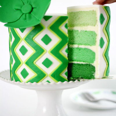 St Patricks Day Cake Lime Flavour