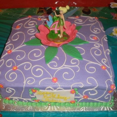 Tinkerbell Cake With Topper