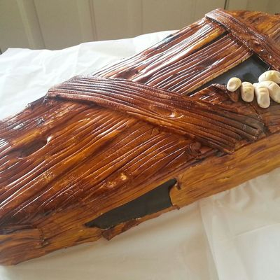 Creepy Coffin Cake