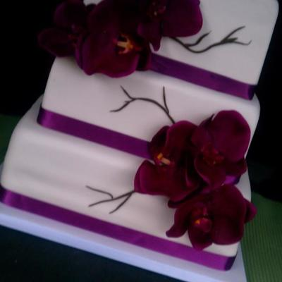 Purple Orchid Sweet 16 Cake
