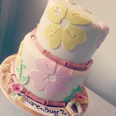 Luau Baby Shower Cake