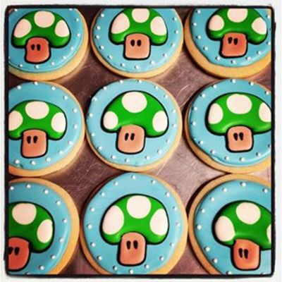 One Up Mushroom Cookies Done For My Sons Birthday I Had Fun Doing These