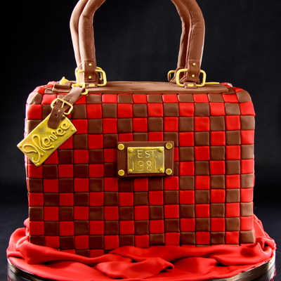 Luggage Turned Purse Cake