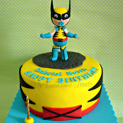 Baby Wolverine Themed Birthday Cake
