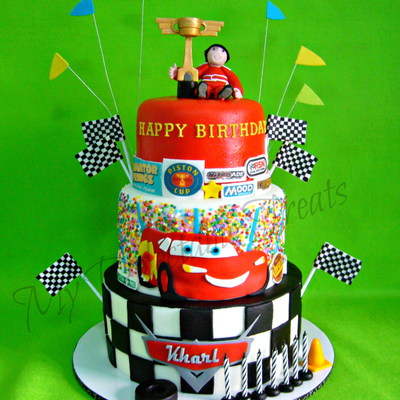 Kharl's Cars Themed Birthday Cake