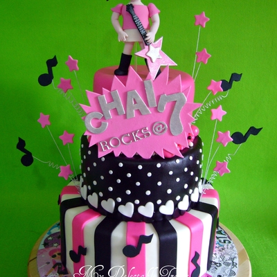 Rock Star Theme Cake