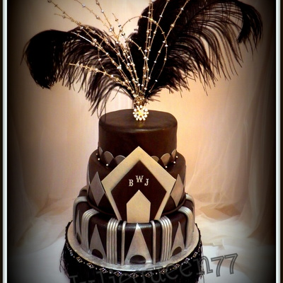 I Wanted To Design A Cake With A 1920S Theme For Quite Some Time But Never Had The Occasion Needless To Say I Was Thrilled A Client Conta