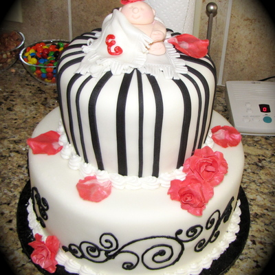 Black/white Baby Shower
