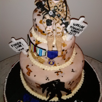 For Wounded Warrior Projectfigurine Is Modelling Chocolate Edible Dog Tagssigns And Medals Are Gumpaste With Handpainted