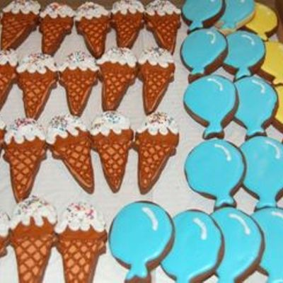 Ice Cream Cones And Balloons