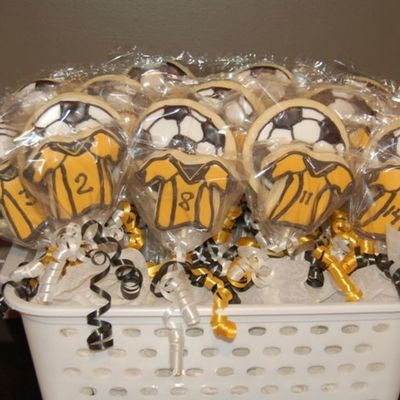 Soccer Cookies For My Son's Team