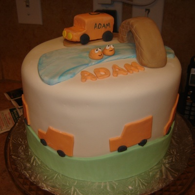 Truck Theme For My Sons 3Rd Birthday The Fish Are From A Book He Likes That He Was Talking About Constantly At The Time