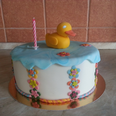 Ducky With Flowers