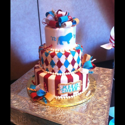 I Couldnt Find A Category For This Cake It Was For A Local High Schools Annual Cheer Leading Banquet The Theme Was Vintage Circus And