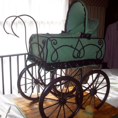 Vintage Baby Carriage Cake