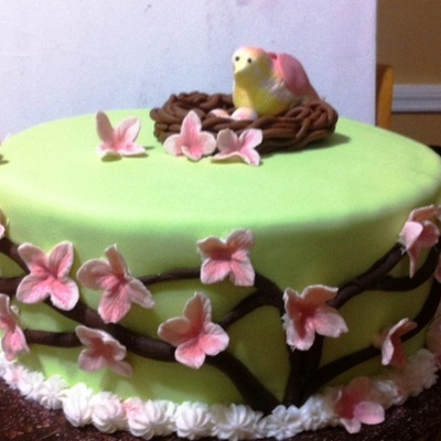 Birds Nest Baby Shower Cake