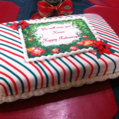 Christmas Retirement Cake