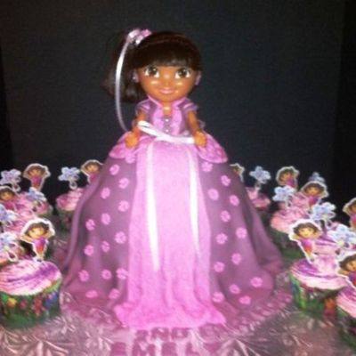 Dora The Explorer In A Ball Gown.