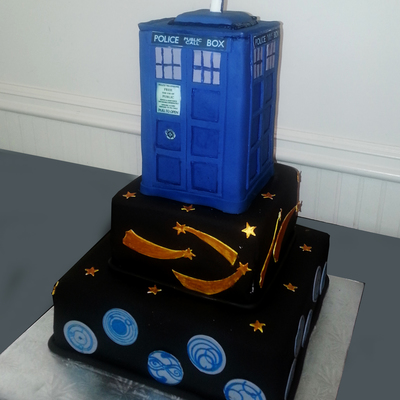 Dr Who Grooms Cake