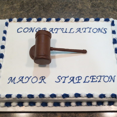 Made For Someone Who Will Be Sworn In As Mayor Colors Were Chosen For The Towns High School Colors Buttercream Frosting And Fondant Gav