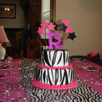 Zebra Stripe With Hot Pink Accents