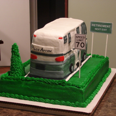 Motorhome Retirement Cake
