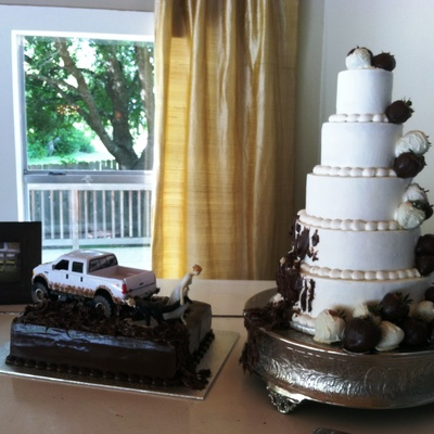 Muddy Wedding Cake