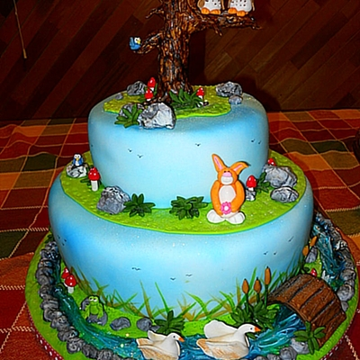 Twin Owls - Enchanted Forest Baby Shower