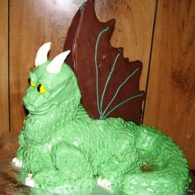Green Dragon on Cake Central