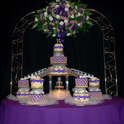 Purple Gold And Ivory Q Cake