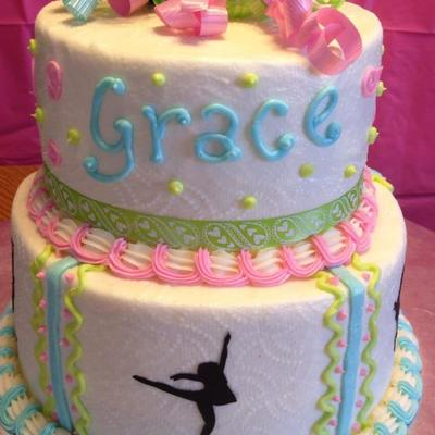 Dancer Birthday Cake