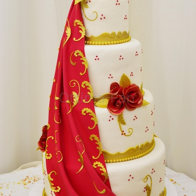 Red And Gold Draping