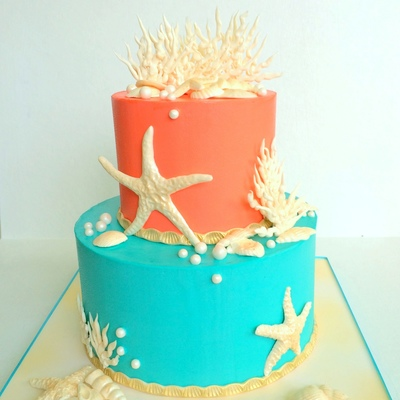Ocean Inspired Birthday Cake
